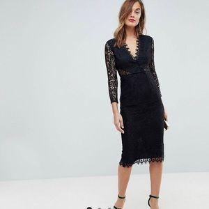 ASOS long sleeve lace pencil dress